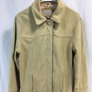 VTG 80's Guess Leather Coat Jacket Womens Small